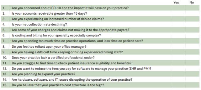 Medical Billing Self Assessment