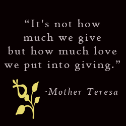 Mother Teresa Giving Quote