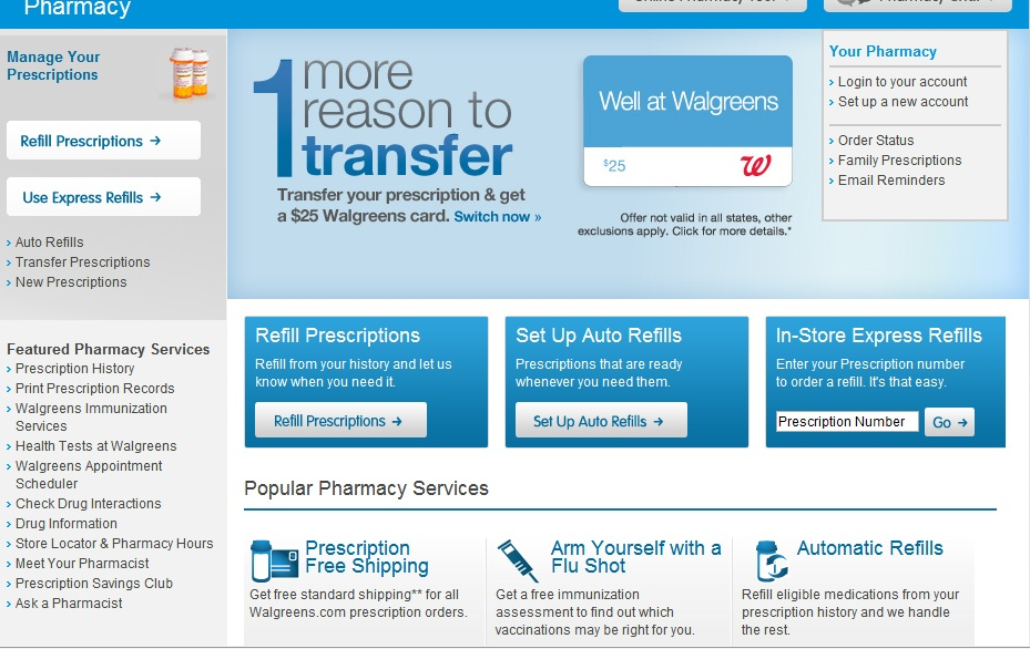 Several Pharmacies Offer Online Services For Patients | Healthcare