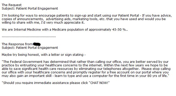 Comical Patient Portal Comments