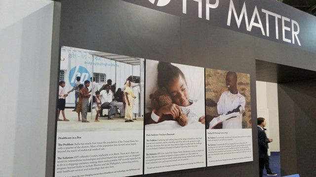 HP Healthcare Booth at CES 2015