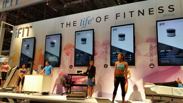 Wearable Fitness Booth at CES 2015