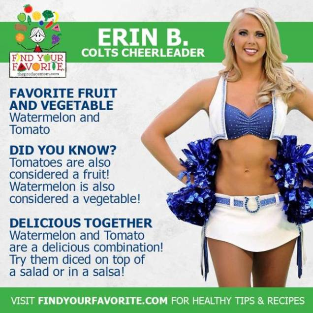 Colts Cheerleader Promoting Health