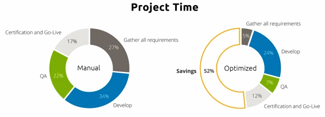 Healthcare Integration Project Time Chart