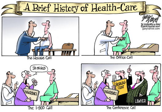 The advances in Health-Care seems to be putting some distance between the doctor and patient.