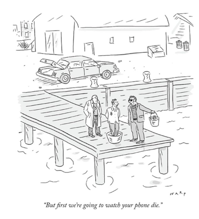 Cell Phone Addiction Cartoon