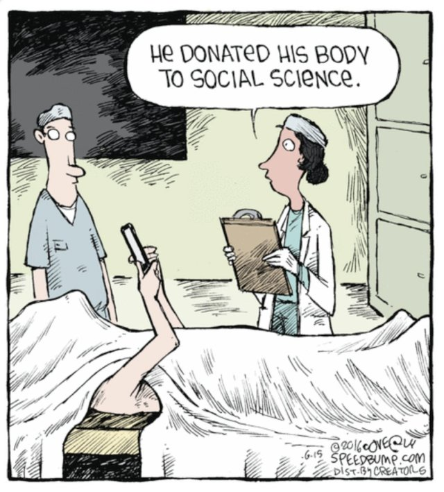 Cell Phone Addiction - Social Science Research Cartoon