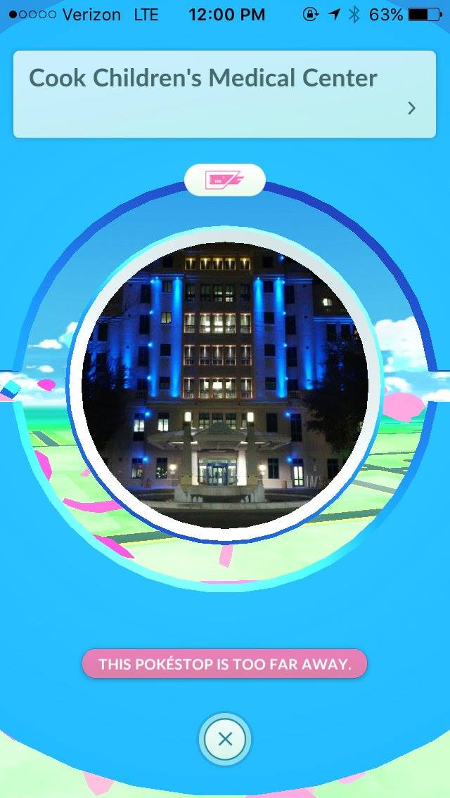 Hospital PokemonGo Notice and Policy