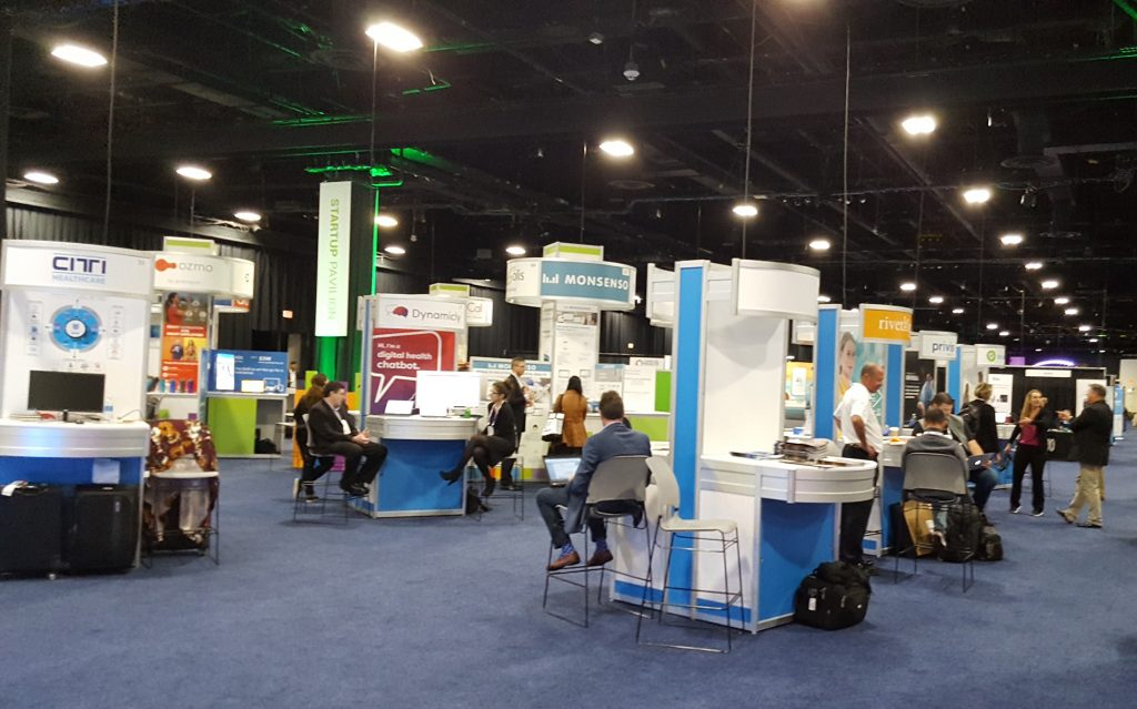 Exhibition hall at Connected Health Conference