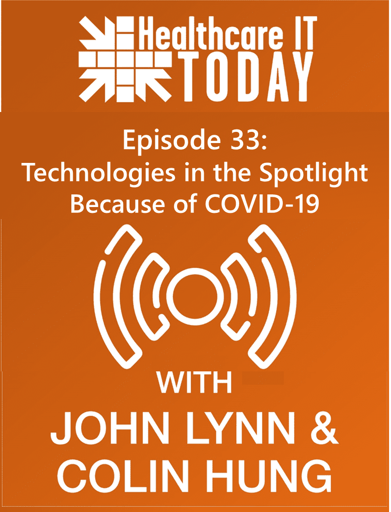 Technologies in the Spotlight Because of COVID-19 – Healthcare IT Today Podcast Episode 32
